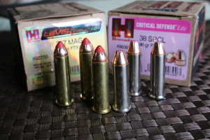 These .357 Magnum and .38 Special rounds are centerfire cartridges.