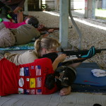 Students perfecting shooting from the prone position.