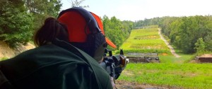 Project Appleseed's home range in Ramseur, North Carolina. This student is working with targets on the 400-yard line from the prone position.