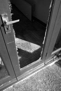 Shattered Glass Door